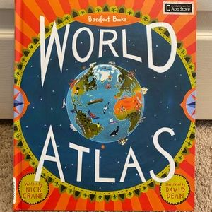 Kids world atlas illustration book